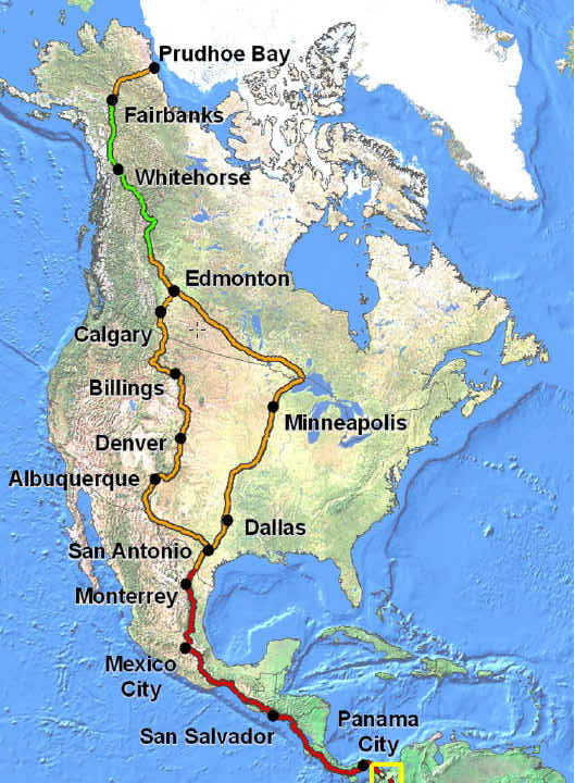 map of pan american highway with G Panamerican on G panamerican additionally Alaska To Argentina Cycling The Pan American Highway additionally 6026651109 in addition Continente Americano besides Chacchoben.