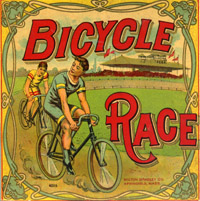 BICYCLE RACE MILTON BRADLEY